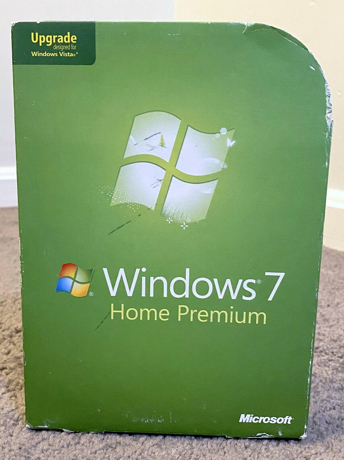 Microsoft Windows 7 Home Premium Upgrade Version For Vista 32 And 64 Bit DVDs - $29.99
