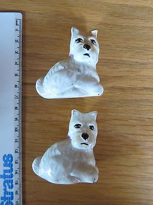 Pair of Vintage Westie/Scottie/Cairn Terriers Dogs (Scottish West Highland etc)
