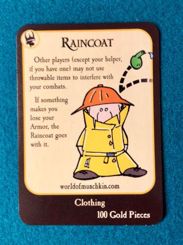 Munchkin Quest NEW Variant Promo Treasure Card Raincoat Armor 100 Gold Pieces