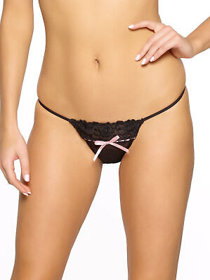 Jezebel | Desire Low Rise Thong | Bow and Lace Detail Jezebel Lace Thongs