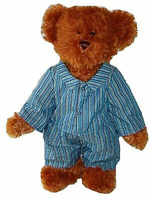 LINDON JOINTED TEDDY BEAR IN STRIPED PYJAMAS–16INCH / 40CM TALL–RRP £35 ONLY £20
