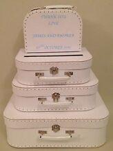 Wedding Wishing Well Personalised Honeymoon Suitcase Set Lesmurdie Kalamunda Area Preview