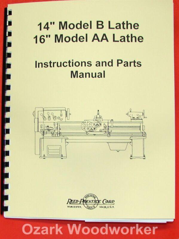 """REED PRENTICE Metal Lathe 14"""" B, 16"""" AA Owner"""