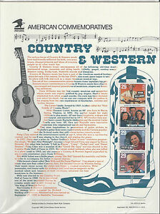 # 2778a COUNTRY & WESTERN MUSIC 1993 COMMEMORATIVE PANEL