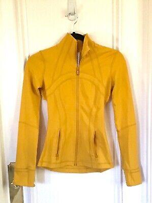 💛Lululemon Women's Yellow Form Fit Define Jacket w/ Matching Hair Tie! Size 2💛