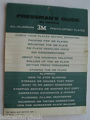 Pressmanss Guide For Running All Aluminum 3m Photo Offset Plate