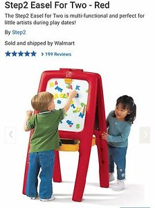 Brand New Easel for Two- Red