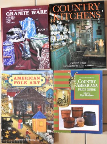 LOT Country Antique Reference Books Americana Kitchens Graniteware & Folk Art
