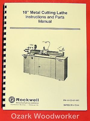 Wards Powr-Kraft Lathe Models TLC-2130A /& TLC-2136A Owners /& Parts Manual #917