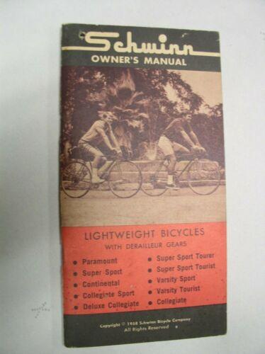 Vintage Schwinn Bicycle Owners Manual 1968