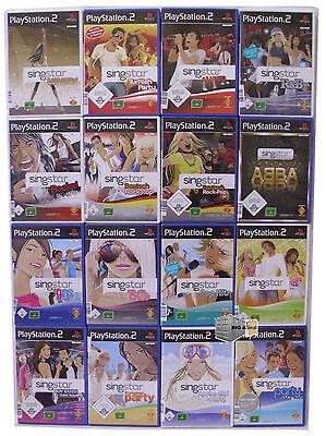 Singstar PS2 PlayStation 2, nur 1 Spiel auswählen - Party Rock Pop Abba 80 90 ..