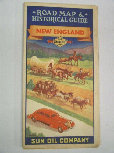 Sunoco Sun Oil Company New England Road Map 1930