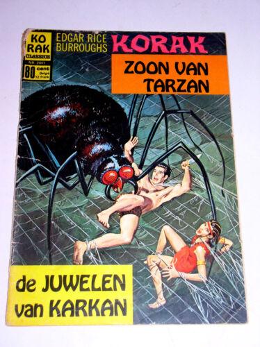 KORAK ZOON VAN TARZAN  1971  NETHERLANDS EDITION  EDGAR RICE BURROUGHS