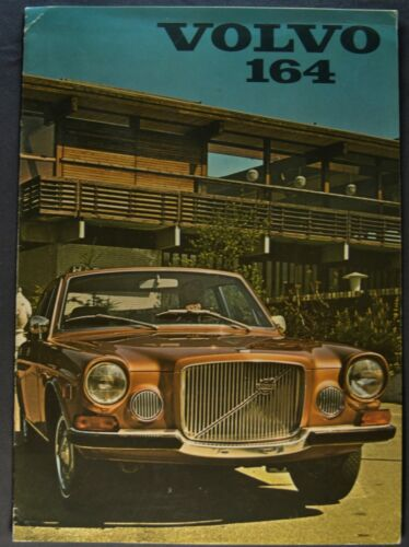 1971-1972 Volvo 164 Catalog Sales Brochure Sedan Nice Original