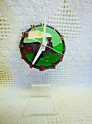 Train Engine (4) Dial Desk Clock (Battery Operated)