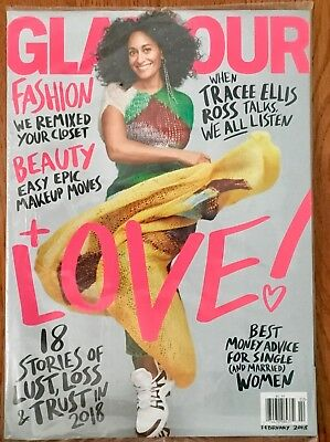 Glamour Feb 2018 Tracee Ellis Ross Fashion  Beauty  Love  Money New Sealed