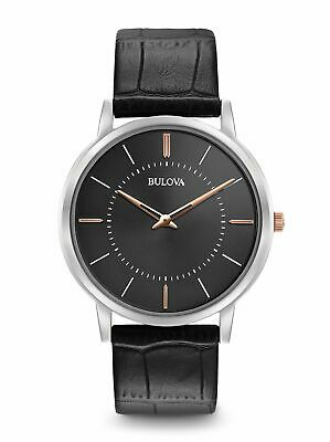 Bulova Black Analogue Men Watch Ultra Slim 98A167