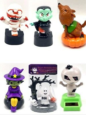 Solar Powered Figures Dancing Moving Animated Bobble Holiday Halloween - Solar Dancing Halloween
