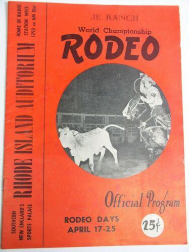 Vintage Rodeo Program Rhode Island JE Ranch