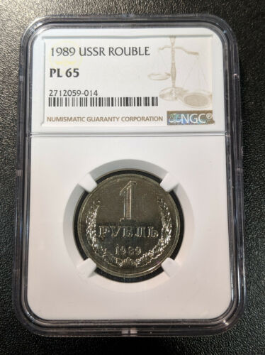 1989 PL65 Russia Rouble NGC Y 134a.2 USSR Proof Like UNC