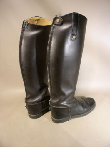 Rectiligne leather tall riding boots