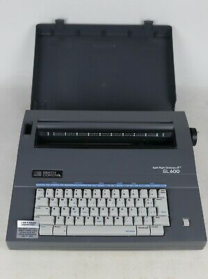 Smith Corona Sl 600 Spell Right Dictionary Electric Portable Typewriter - Tested