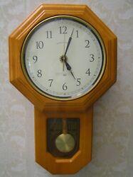 3pt8 SCHOOL HOUSE QUARTZ PENDULUM REGULATOR WALL CLOCK WESTMINSTER CHIME ST135
