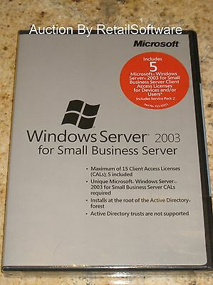 Microsoft Windows Server 2003 For Small Business Server Sp2 5 Cal Sbs T73-01060