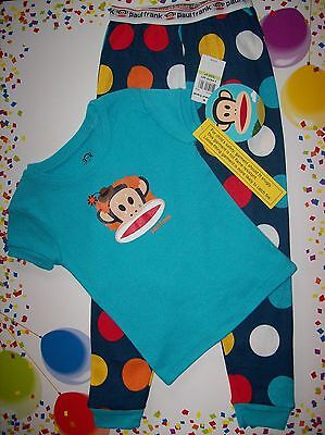 Small Paul Frank Pajama/sleepwear Two-piece Set Boys Size 3toddler Julius