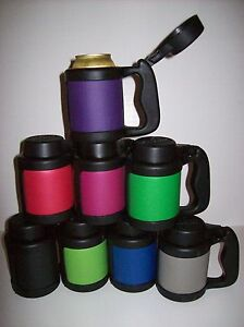 Can Stein - INSULATED FLIP-TOP 12 oz CAN BEVERAGE HOLDER -  MADE IN USA - NEW!