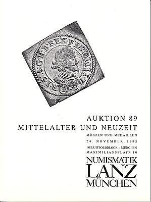 LANZ Auktionskatalog 89 1998 Neuzeit Mittelalter Etschkreuzer Personen Reich?089
