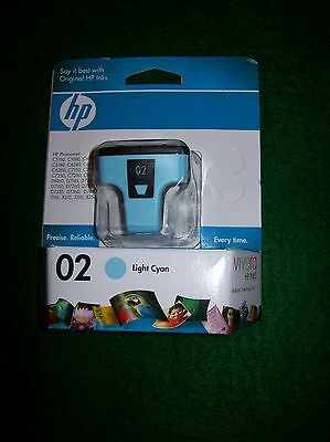 Genuine HP (LIGHT CYAN) 02 Ink Cartridge (Exp. Dec. 2010)
