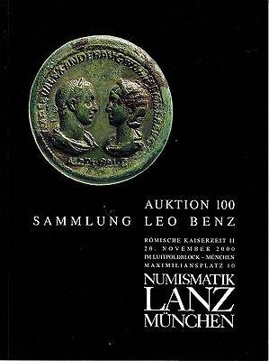 LANZ AUKTION 100 Katalog 2000 Sammlung Leo Benz Dominat Severer Diocletian ~