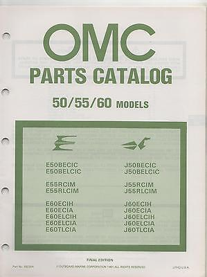 1981 Omc Outboard Motor 50/55/60 Models Parts Manual