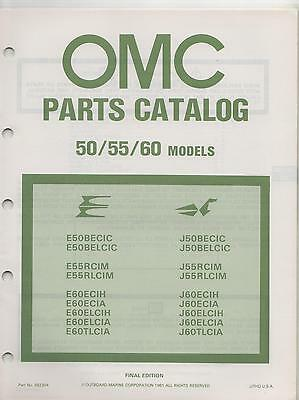 1981 Omc Outboard Motor 50/55/60 Models Parts Manual