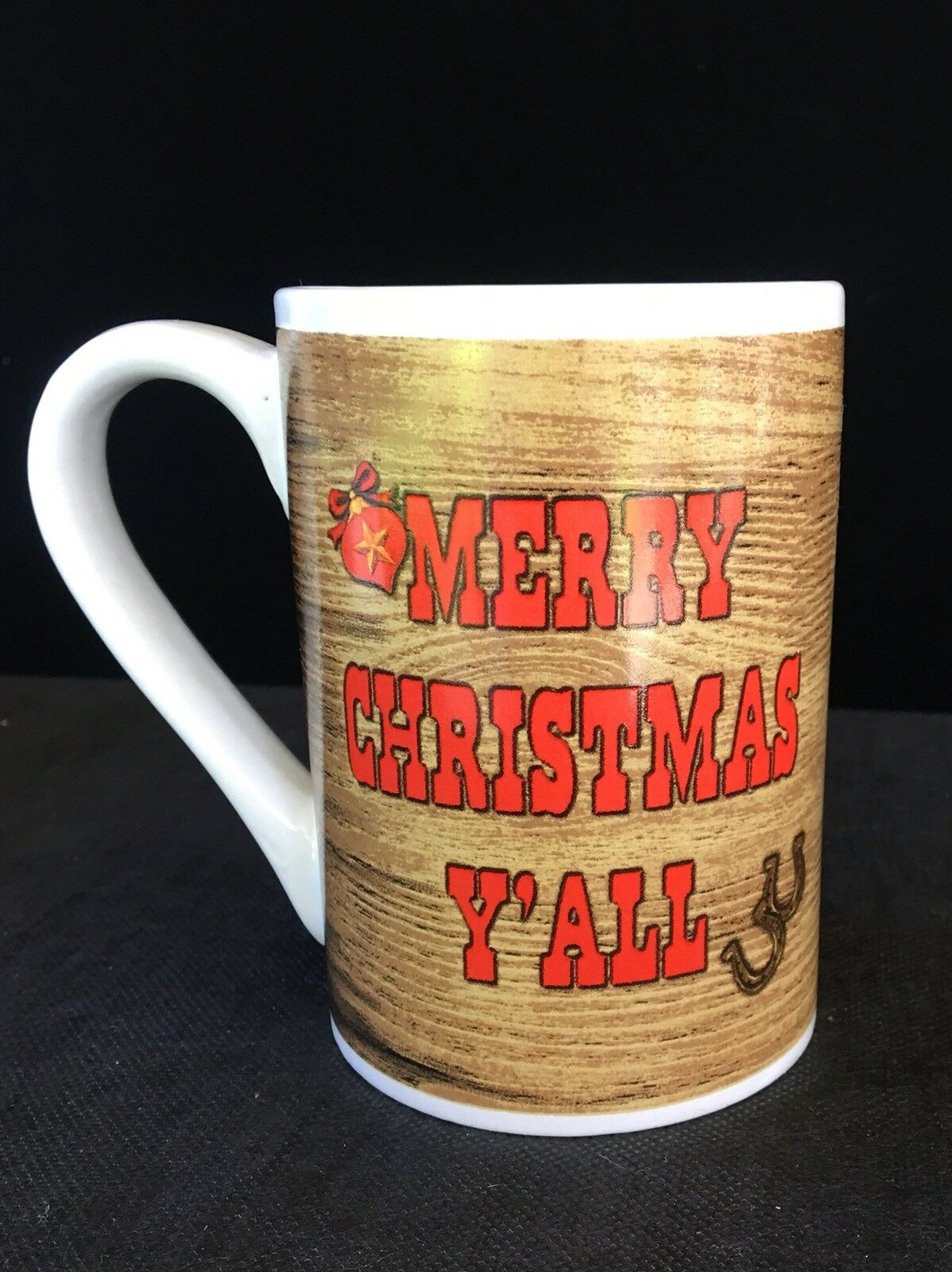 Mug Tall Ceramic Y'all Coffee Cup Holiday Gift Brwon Christmas OPXTwiuZk