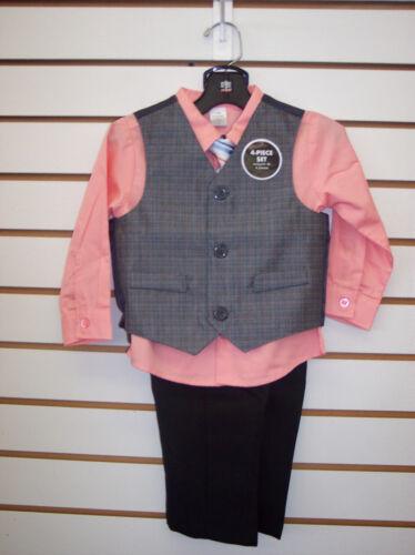 Infant Boys Peach 4pc Vest Suit Size 18 Months