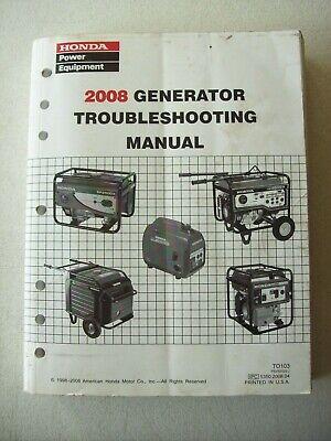 Original Honda 2008 Generator Troubleshooting Shop Manual