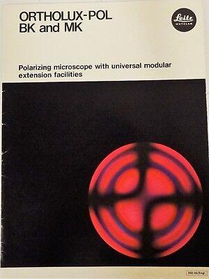 Leitz Ortholux-pol Bk And Mk Microscope Brochure On Cd