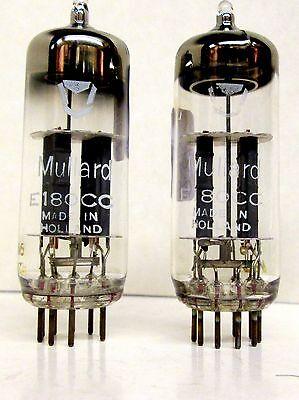 E180CC 5965 7062 Mullard Tube Holland Matched Pairs