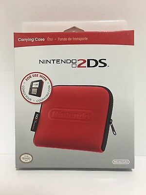 NEW SEALED IN BOX Officially Licensed Red Nintendo 2ds Carrying Case FREE SHIP