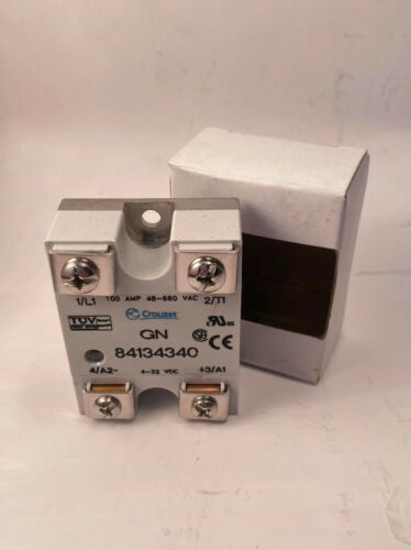 Crouzet 84134340 Solid State Relay, 100A, 48-660VAC, 4-32VDC, New