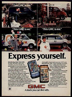 1985 THE SAFARI VAN IN A GMC AD