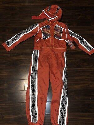 NWT Disney Store Lightning McQueen Pit Crew Costume Halloween Size L 10](Mcqueen Halloween)