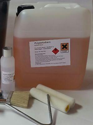 SET: 5 kg Polyesterharz + 100g Härter + Verarbeitungsset 5,40/kg Epoxidharz
