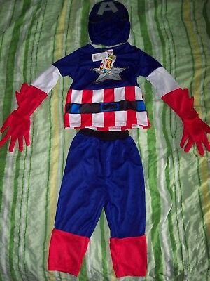 Marvel Avengers Kinder Kostüm Captain America 3 - 4 Jahre