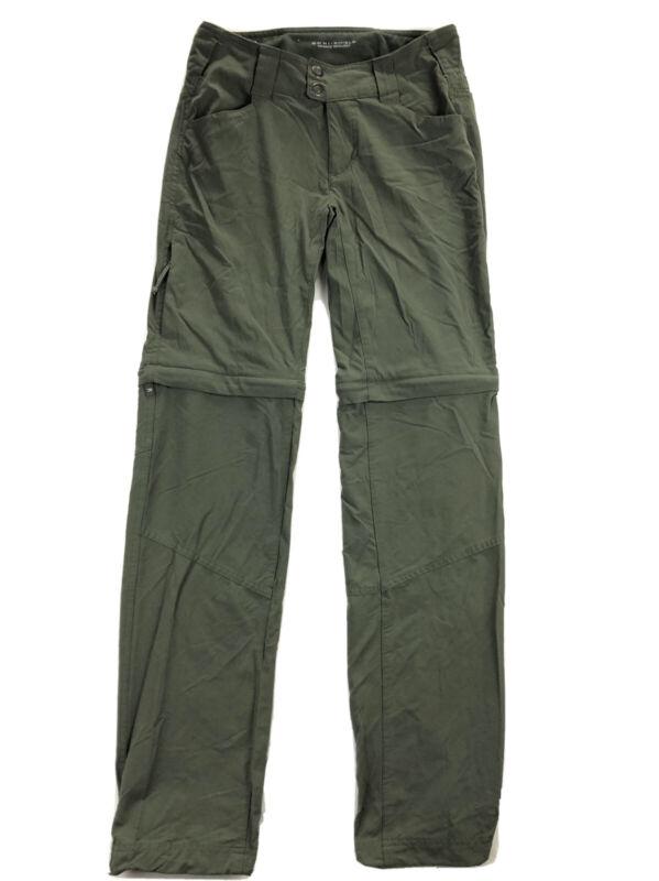 Columbia Saturday Trail II Womens 2 Olive Green Convertible Zip Off Pants