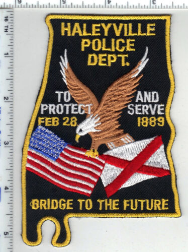 Haleyville Police Department (Alabama) Shoulder Patch - New from the 1990