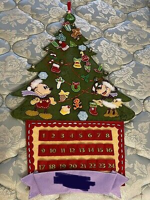 DISNEY STORE MICKEY & MINNIE MOUSE CHRISTMAS ADVENT CALENDAR! VINTAGE-LOOK, EUC!