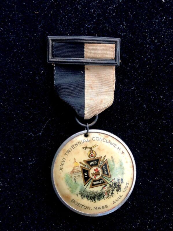 Masonic 1985 XXVI Triennial Conclave Celuloid Medal Knights Templar 2-Sided